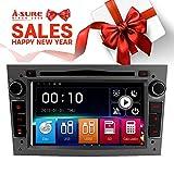 A-SURE 7 Zoll Doppel 2 Din Autoradio Navi DVD GPS Bluetooth FM Radio RDS Mirrorlink für OPEL Astra Antara Corsa Vectra Zafira Vivaro Meriva W4OVGQ 2-Jahre-Garantie
