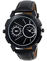 HASHTAG Dual Time Black Case Black Dial Analogue Watch For Men