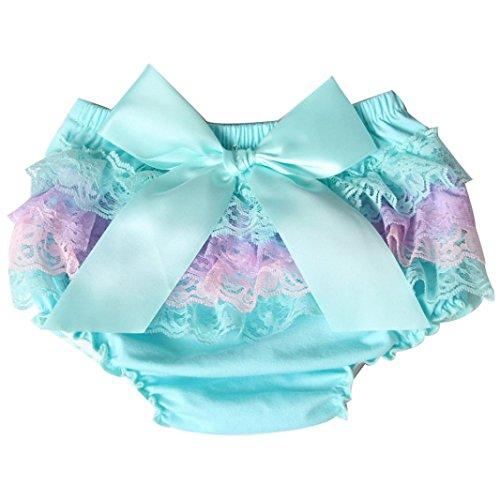 Kleinkind Baby Säugling Mädchen Spitze Rüsche Bloomer Windel Unterwäsche Panty Windelabdeckung Hirolan Wiederverwendbare Baby Schwimmen Windel Schwimmen Hosen Windeln (90CM, Blau) -