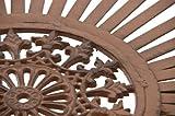 CLP Eisen Steh-Tisch SHIVA, rund Durchmesser Ø 65 cm, Höhe 100 cm, Metall, nostalgischem Design, handgefertigt antik braun -