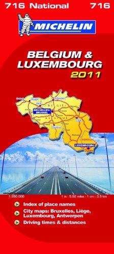 Belgium & Luxembourg National Map 2011 2011