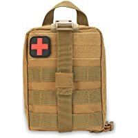 Survival Emergency Pouch with First Aid Patch Medical Bag for Outdoor Climbing Camping Hiking