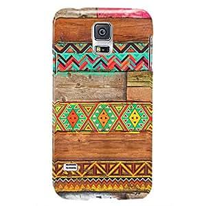 Tribal Art Wooden Texture Design Hard Back Case for Samsung Galaxy S5
