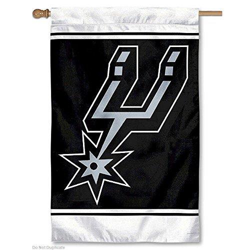 NBA San Antonio Spurs 28'' x 44'' Team Logo Applique Flag by Fans With Pride