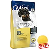 HAPPY DOG Supreme Mini Light Low Fat HDSML +BALL Gratis Hundefutter Nur 7 % Fett Hunde Futter (4 kg)