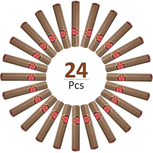 24 Stücke Pragmatische Gefälschte Zigarren Puff Zigarre Simulierte Zigarren, Schieß Requisiten, Neuheit Spielzeug, Halloween Requisiten, Party Geschenke, Maskerade, Halloween Kostüm, Spaß Gag Geschenk -