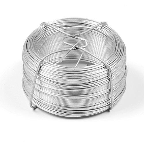 INDUTEC Drahtspinne Drahtrolle Drahtspule Draht verzinkt 1,0 mm - Länge 100 m -