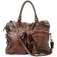 Ira del Valle, Borsa Donna, In Vera Pelle Vintage, Made in Italy, Modello California Bag, Borsa Grande a Mano e Spalla con Tracolla da Donna Ragazza