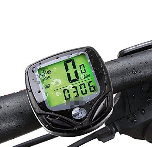 RANIACO Bike Computer, Wireless Computer Automatische Wake-up Fahrrad Tacho und Kilometerzähler mit Hintergrundbeleuchtung LCD Display-Tracking Abstand AVS Speed Zeit für Fahrrad Enthusiasten