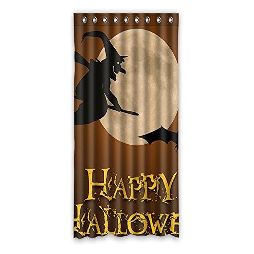 Brauch Halloween Witch Halloween-Hexe Fenster Vorhang Window Curtain Licht Beweis Polyester Fabrik für Schlafzimmer oder Wohnzimmer 132 Zentimeters x 275 Zentimeters (ein Stück)