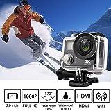 Macchina fotografica di azione sportiva, Stoga V3 4K Wifi sportiva di azione HD videocamera impermeabile 16MP 170 gradi grandangolare