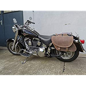 Gepäckkoffer  Satteltaschen Harley Davidson Chopper Reisekoffer Lederrolle Neu