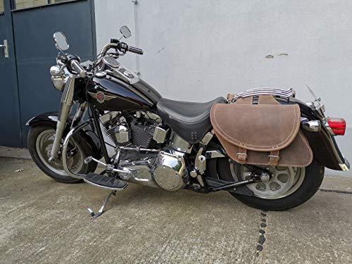 Sacoche Moto Cuir Sacoche Moto Sacoches De Selle De Moto Convient /à La Plupart des Marques Et Mod/èles De Motos