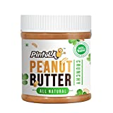 Pintola All Natural Crunchy Peanut Butter, 350G (Unsweetened, Non-GMO, Gluten Free, Vegan)