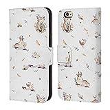 Head Case Designs Offizielle Kristina Kvilis Sei Mutig Tiere 2 Brieftasche Handyhülle aus Leder für iPhone 6 / iPhone 6s