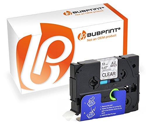 Bubprint nastro a cassetta compatibile per Brother TZe-131 TZ131 e P-Touch 18 H75 E100 H110 H300 D210 D400 D450 P700 1000 1005 1010 1080 1250 PTP900W