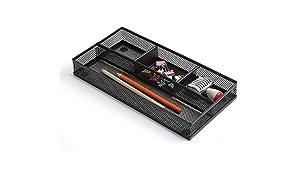 Callas Metal Desk Drawer (L-30cm W-15cm ; Black ; 598-3)