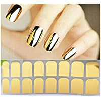 16 Packs Different Designs Tip Guide Nail Vinyl Self-adhesive Nail