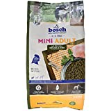 bosch Hundefutter Mini Adult Geflügel und Hirse, 1er Pack (1 x 3 kg)