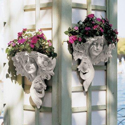 Design Toscano Le Printemps und Le Etoile: Französische Blattmasken, Wandfiguren