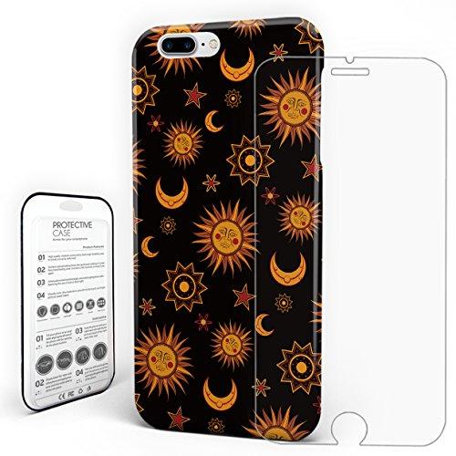 YEHO Art Gallery Schutz Hülle Case Design Hartschale Galaxy Elements Sun Moon Star Orange Slim Case für iPhone 6/iPhone/6S/iPhone 6S Plus/iPhone 7/iPhone 7Plus/iPhone 8by iPhone 7 Plus Stil 1