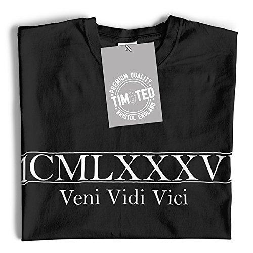 MCMLXXXVII Veni Vidi Vici Geburtsjahr 1987 30. Geburtstags-Geschenk-Geschenk-Andenken In römischen gemacht Langarmshirt Dark Grey