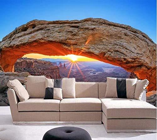 Mesa Wallpaper (Fototapete Tapete Wanddeko Home Decor 3D Sonnenaufgang Bei Mesa Arch Selbstklebende Tv Hintergrundbild Schlafzimmer Wandbild, 350Cmx245Cm)