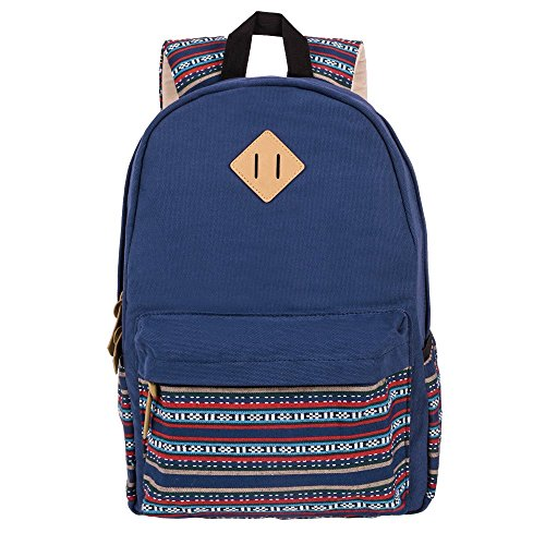 tenn-well-casual-canvas-backpack-bag-rucksack-bookbags-backpack-for-school-collage-outdoor-blue