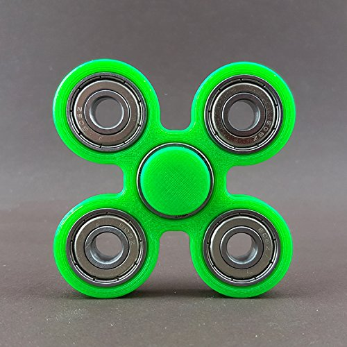Fidget Spinner Star Brass Hand Toy Finger Bar EDC Pocket Desktoy ADHS neon grün 3D Druck