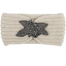 Diademas para mujer Sannysis Joyas para el pelo Cinta de punto Diademas hecha a mano (