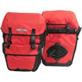 Ortlieb Travel Bike-Packer Plus - Alforjas y Pantalones de Ciclismo con Bolsillos, Color Rojo, Negro