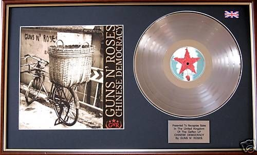 Guns N'Roses-Platinum disco & cinese della democrazia