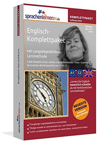 Englisch-Komplettpaket: Lernstufen A1 bis C2. Fließend Englisch lernen mit der...