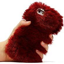 Funda Peluche iPhone 6 Plus / 6s Plus , URCOVER Fake fur Relax Edition Piel Artificial Funda Peluda Fluffy Apple iPhone 6 Plus / 6s Plus Pelo Suave Mullido Cálido Rojo