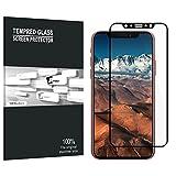 iphone X Displayschutzfolie, AVIDET Hohe Qualität 3D vorgerundet PET HD Ultra-klar glasfolie Display Schutz Folie Vollschutz-mit ultra-Stärke, ultra-klare Transparenz für iphone X ( Schwarz)