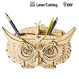 Rolife Woodcraft Kits 3D Holzpuzzle pädagogisches Spielzeug Geschenk für Kinder und Erwachsene (Owl Shortage Box)