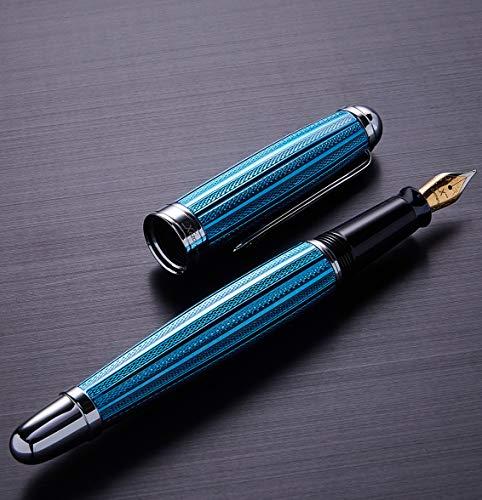 Xezo Freelancer Produit Laiton Stylo plume vénitien, Bleu Couleur. Pointe moyenne (Freelancer Bleu vénitien F)
