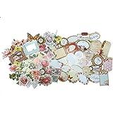 50troquelado formas y adornos de Scrapbooking, Card Making–6colores en 2diseños, color Summer Garden