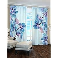 Lemare Vorhang Blickdicht Digitaldruck Orchidee In Knospen 2X 145x260 Cm