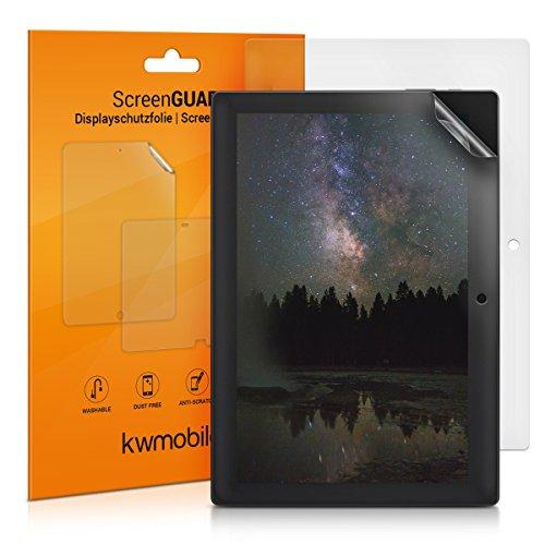 kwmobile 2x Folie matt für Lenovo Tab 3 10 Plus Displayschutzfolie - Schutzfolie Anti-Fingerabdruck Displayschutz Displayfolie entspiegelt