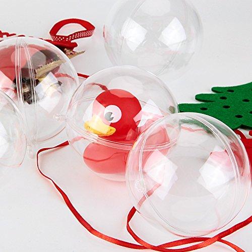 amzdeal palla di natale trasparente 12 pezzi diametro 10 cm pallina in plastica decorazione di. Black Bedroom Furniture Sets. Home Design Ideas