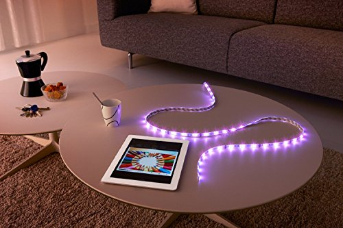 51Wg5XdIEML [Bon Plan Objets connectés] Philips Hue Ruban led connecté Lightstrip Hue 2m Pilotable Via Smartphone (Pont hue requis)