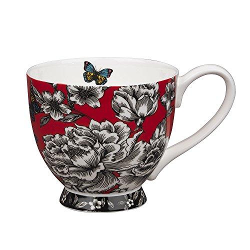 Portobello CM04787 Sandringham Tasse, Porcelaine, Papillon/jardin