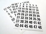 288Sticky nummeriert Etiketten 0bis 99Weiß Selbstklebende Aufkleber Schwarz Zahlen