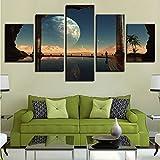 zfkdsd (Nessuna Cornice) Tela Pittura Arte della Parete HD Stampa 5 PezziPianeti Immagini TV Play Poster Decorazioni per La Casa Modulari per Soggiorno-40x60cmx2,40x80cmx2,40x100cmx1