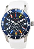 Nautica A12629G–Armbanduhr Herren, Armband aus Kunstharz Farbe Weiß