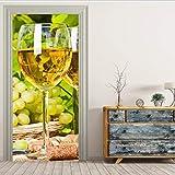Namefeng Champagner Bild Wandbilder Wandaufkleber Durch Aufkleber Tapete Aufkleber Home Decoration 77X200Cm