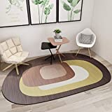 Ommda Tappeto Moderno Salotto Antiscivolo Colorati Colore Tappeti Moderni Soggiorno Forma Irregolare Motivo Geometrico Lavabile Design 80x160cm