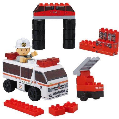 BlockLabo block lab vehicle block big ladder truck block set (japan import)