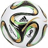 Brazuca Top Glider Finale de Coupe du Monde - Ballon de Foot Réplique Blanc/Noir/Or